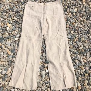 Ann Taylor Loft Julie Curvy Tan Flared Trousers